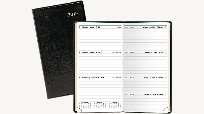 slim 2 page per week planner 13551 day timer