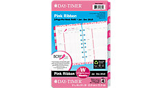 Pink Ribbon 2-Page-Per-Week Planner Refill Desk Size (Item # 14210)