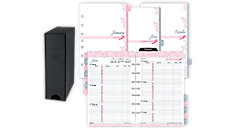 Pink Ribbon 2-Page-Per-Week Planner Refill with Storage Desk Size (Item # 14211)