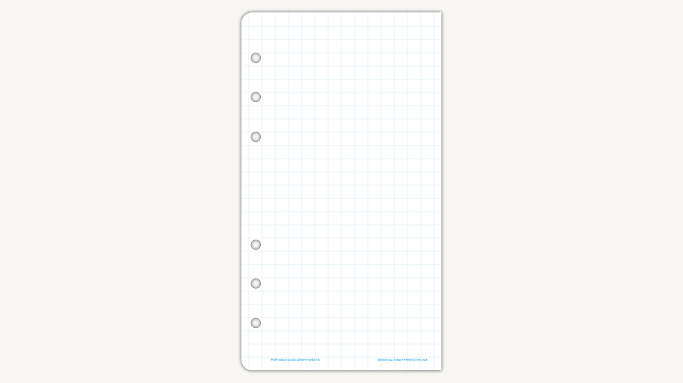 quad ruled graph paper portable size 14903 day timer