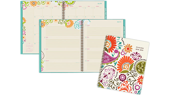 AT-A-GLANCE Garden Party Academic Weekly-Monthly Planner  (150-905A)