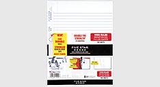 Reinforced Wide Ruled Filler Paper 100 Sheets (Item # 15000)