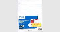 Reinforced College Ruled Filler Paper 100 Sheets (Item # 15008)