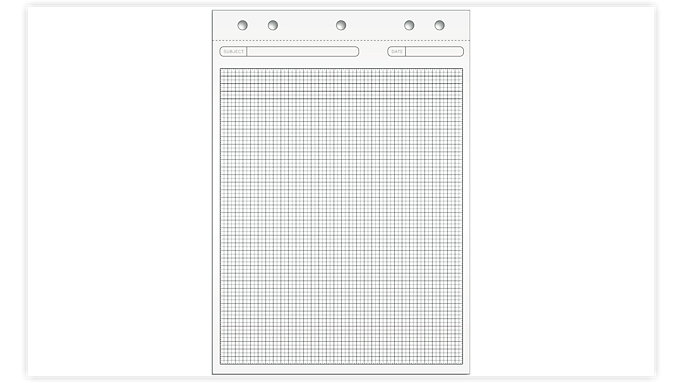 Day-Timer Magna Pad Graph Refill  (16874)