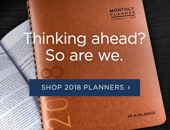 2018 Planners and Appointment Books Available Now!