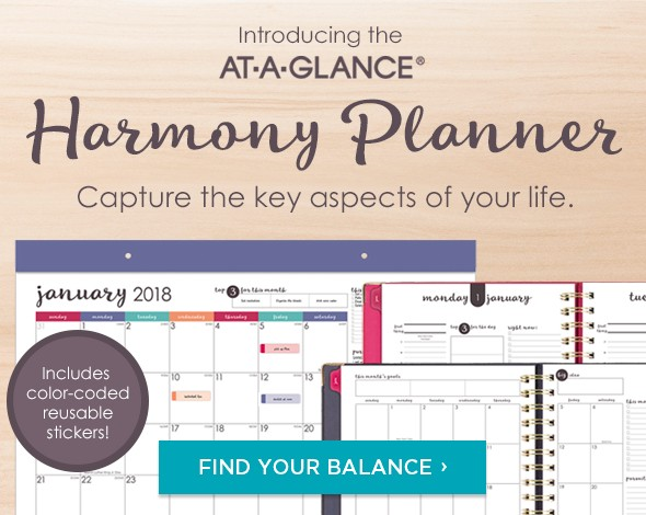 Introducing the AT-A-GLANCE Harmony Planner - Unique layout for capturing life's moments