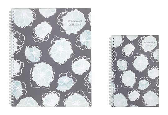 AT-A-GLANCE Gray and Mint Planner