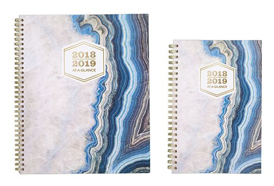 AT-A-GLANCE Blue and Gold Planner