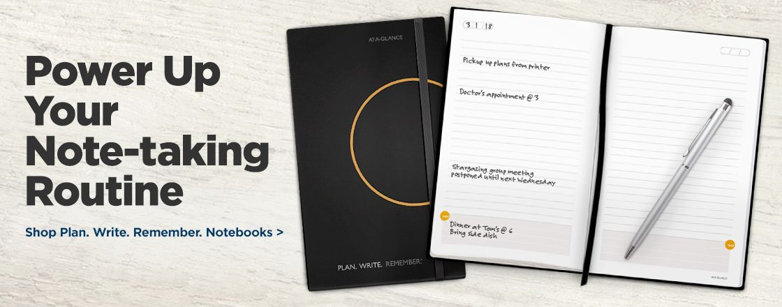 Power Up Your Note-taking Routine with Plan. Write. Remember. Notebooks!