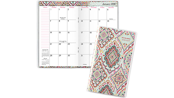 AT-A-GLANCE Marrakesh 2-Year Monthly Pocket Planner  (182-021)
