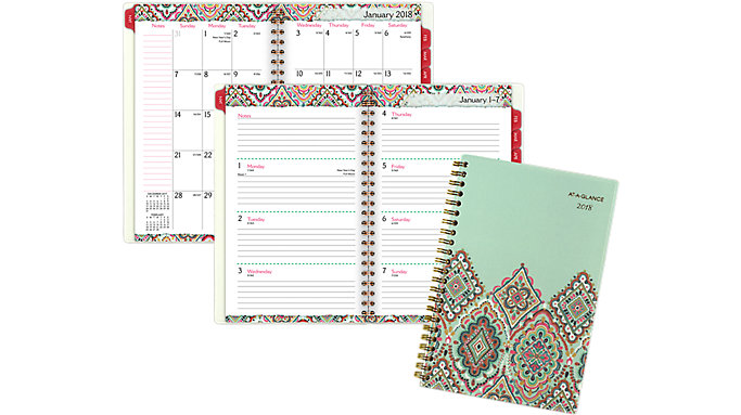 AT-A-GLANCE Marrakesh Weekly-Monthly Planner  (182-200)