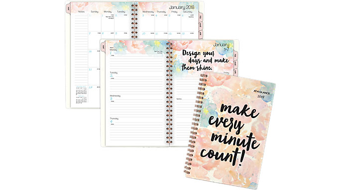 AT-A-GLANCE B-Positive Weekly-Monthly Planner  (187-200)