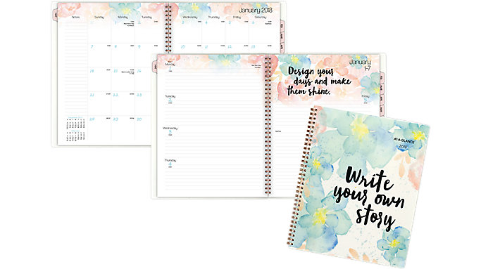 AT-A-GLANCE B-Positive Weekly-Monthly Planner  (187-905)