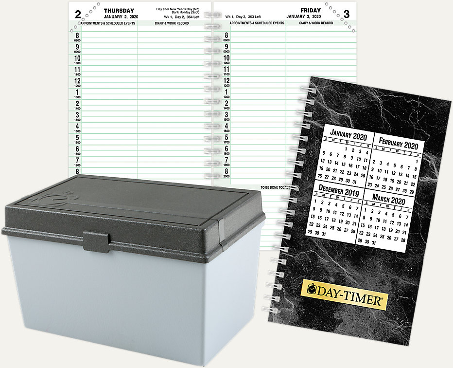 Hourly Calendar For 16, 17 18 February 2020 1 Page Per Day Planner Refill Compact Size | 19010 | Day Timer