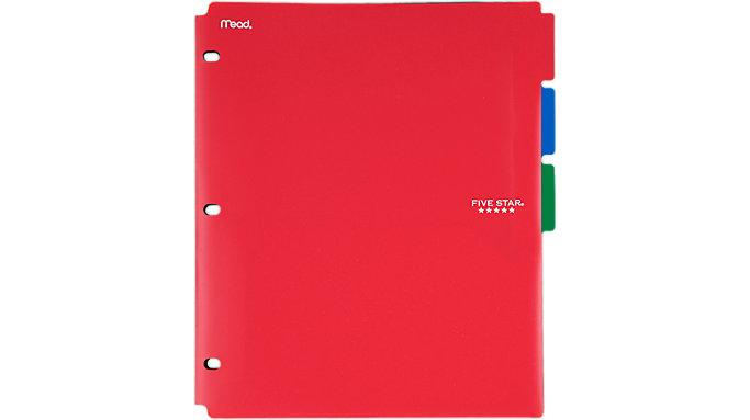 Five Star Side-Tabbed 2-Pocket Folder Dividers 3 pack  (20042)