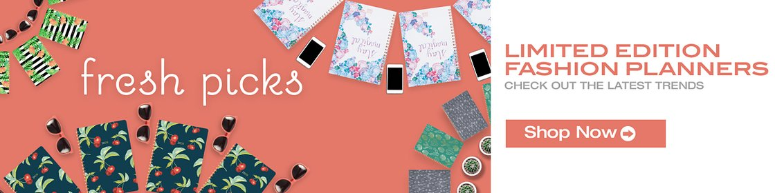 Limited edition fashion planners check out the latest trends. Shop Now