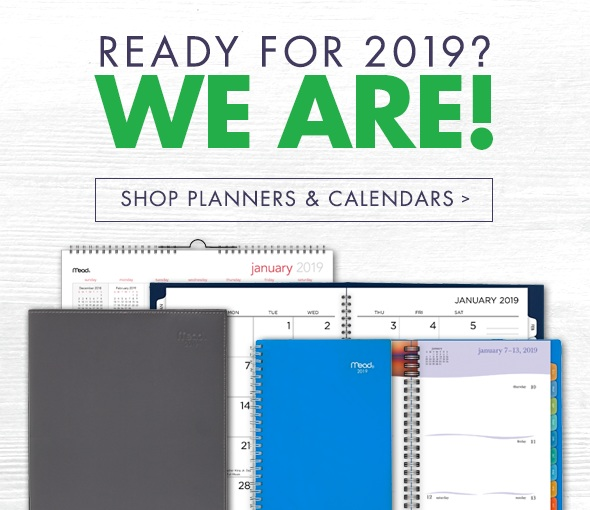 shop our variety of planners and calendars today