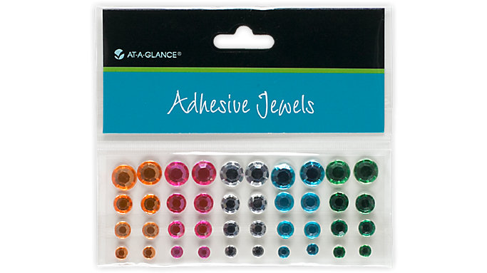 AT-A-GLANCE Adhesive Jewels-Rhinestone Gems  (214-01)