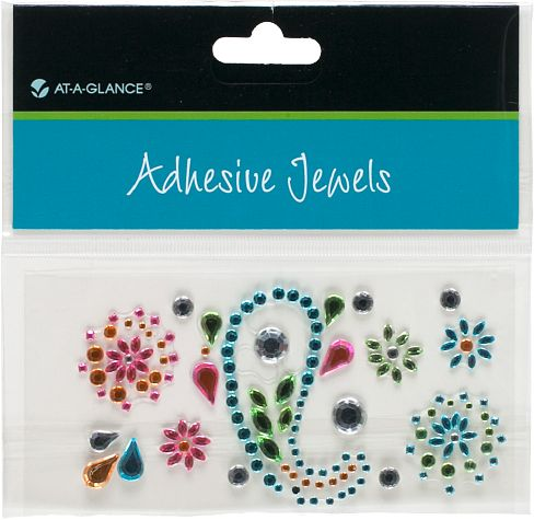 At-A-Glance Adhesive Jewels-Floral Paisley Pattern - Planner Accessories