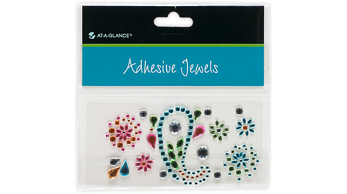AT-A-GLANCE Adhesive Jewels-Floral Paisley Pattern  (214-02)