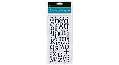 Adhesive Jeweled Black Monograms (Item # 218-01)