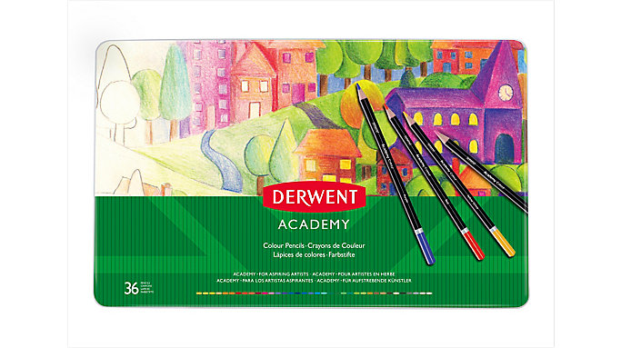 Derwent Academy Deluxe 36 Colour Pencils Tin  (2300225)