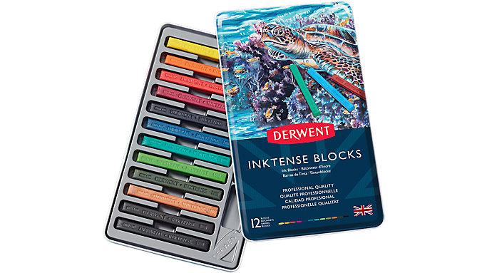 Derwent Inktense 12 Ink Blocks Set  (2300442)