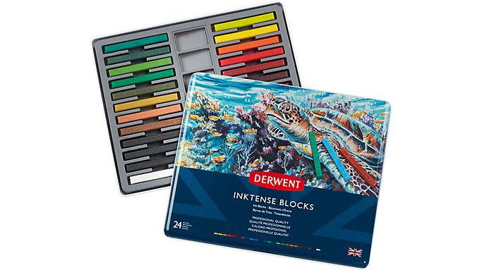 Derwent Inktense 24 Ink Blocks Set  (2300443)