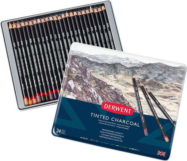 Derwent Charcoal 24 Tinted...