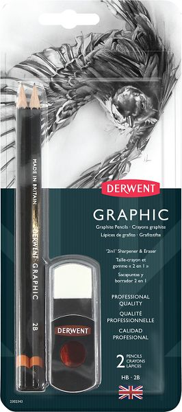 Derwent Graphic Pencils 2 in 1 Sharpener-Eraser -