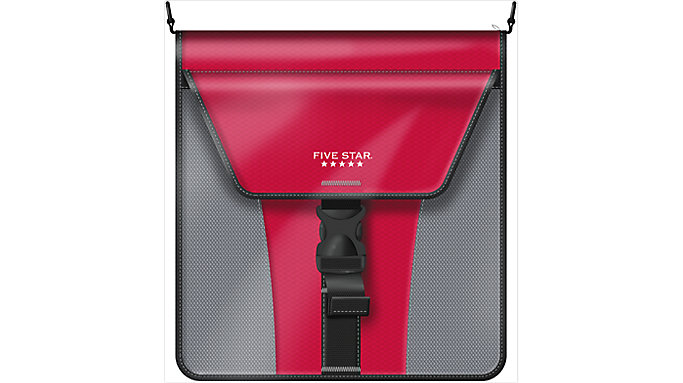 Five Star 2 inch Vertical Flip Zipper Binder  (29086)