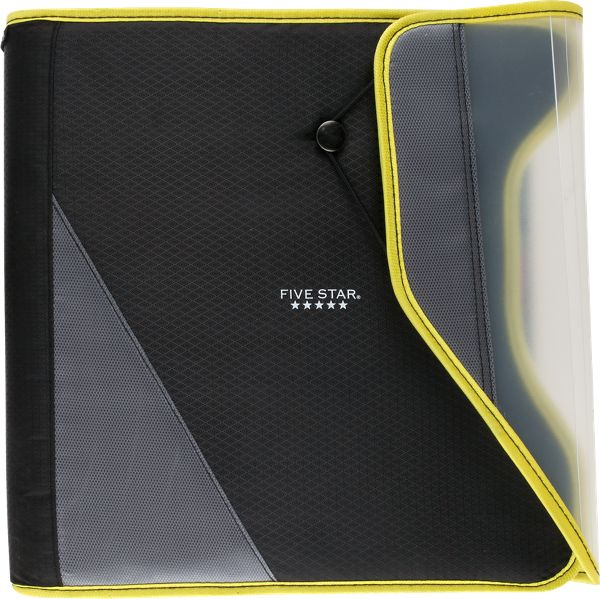 Five Star 1.5 Inch Zipper Binder With Easy Access