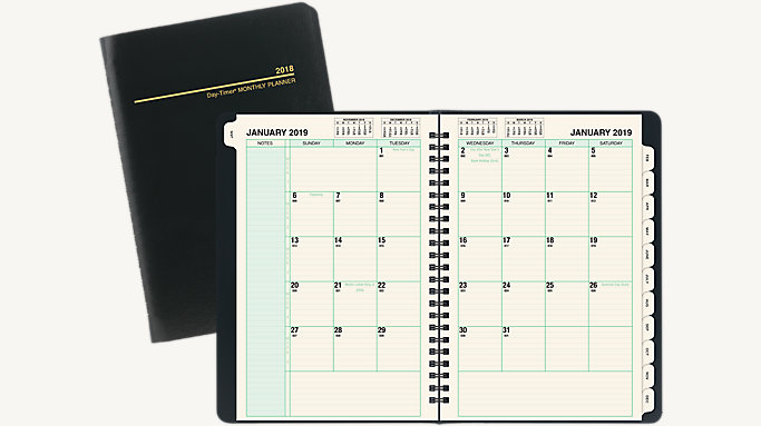 monthly planner journal size 30320 day timer