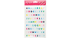 Simplified System Happy Stripe Letter Sticker Sheets (Item # 31093)