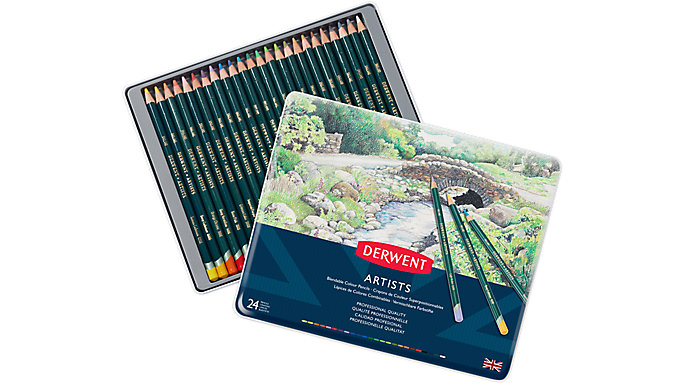 Derwent Artists 24 Blendable Colour Pencils Tin  (32093)