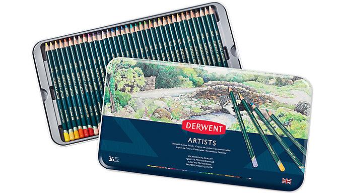 Derwent Artists 36 Blendable Colour Pencils Tin  (32096)