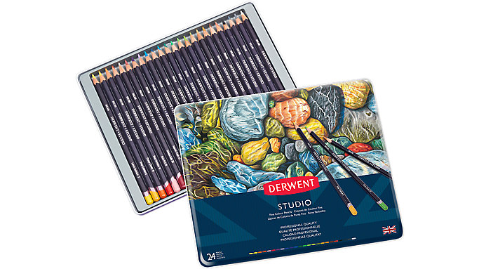 Derwent Studio 24 Fine Colour Pencils Tin  (32197)