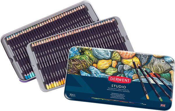 Derwent Studio 72 Fine Colour Pencils Tin - Derwent
