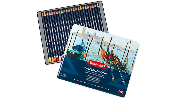 Derwent Watercolour 24 Pencils Tin  (32883)