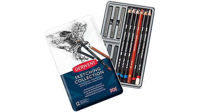 Derwent Sketching Collection 12 Pencils Tin  (34305)