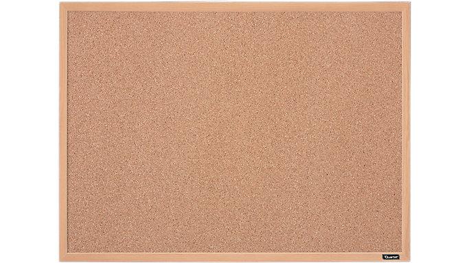 Quartet Cork Bulletin Board with Oak Finish Frame 23x17  (35-380342Q)