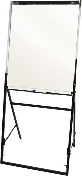 Quartet Futura Whiteboard-Flipchart Easel with Black Frame - Flip Charts & Easels
