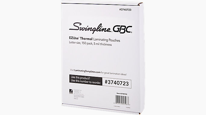 Gbc Ezuse Thermal Laminating Pouches Letter Size 5 Mil 150 Pcs 3740723