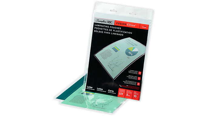 GBC EZUse Thermal Laminating Pouches Letter Size 5 Mil 10 pcs  (3747324)