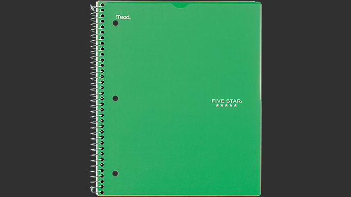 Five Star Customizable College Ruled Notebook - 3 Subject