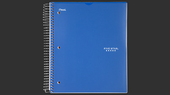 Five Star Customizable College Ruled Notebook - 5 Subject