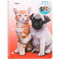Deals on Mead Purrs and Grrrs Notebook Stickers Included 1 Subject