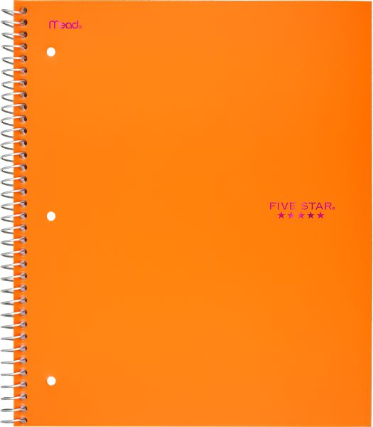Trend Wirebound Wide Ruled Notebook 3 Subject, 05244C By Five Star
