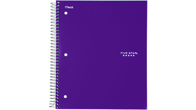 Five Star Wirebound College Ruled Notebook 3 Subject  (06210)