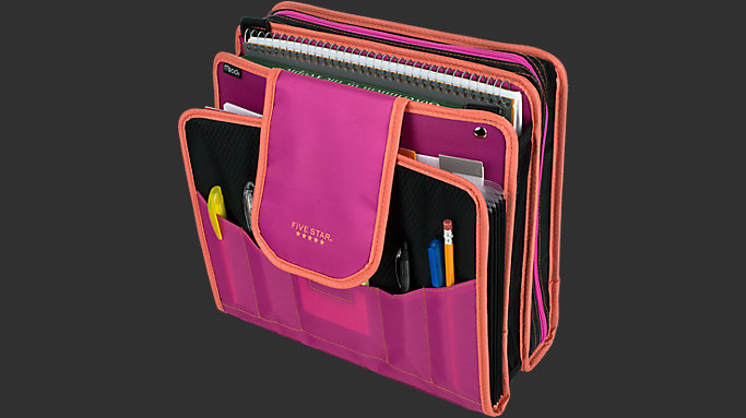 4 inch capacity zipper binder 28044 five star